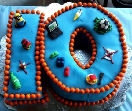 10 Year Old Birthday Cake