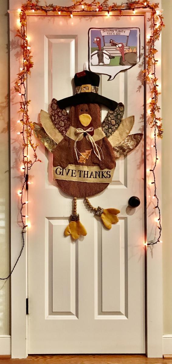 5 thanksgiving door